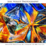 colored glass closeup abstract